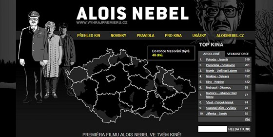 N�hled webov�ch str�nek, na kter�ch m�ete vyhr�t p�edpremi�ru filmu Alois