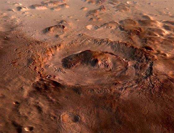 Kráter Gale - místo přistání sondy Mars Science Laboratory