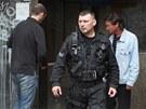 Brněnští strážníci kontrolovali objekt vyhořelého kasina naproti Hlavnímu nádraží v Brně, který sloužil jako útočiště bezdomovců a narkomanů.