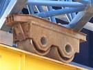 Voz�ky nesouc� mostn� konstrukci byly zk�iven�. Sn�mek n�kolik dn� p�ed katastrofou.