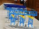 Maketa mostn� konstrukce ve Stud�nce v soudn� s�ni.