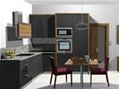 Pohled do kuchyňského koutu a obývací části