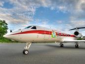 Gulfstream G450 na biopalivo