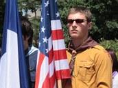 Oběti uctily i děti s vlajkami