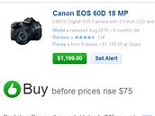 Decide.com - doporučení koupit, než cena stoupne
