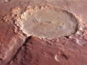 Kráter Holden - Jedno ze zamítnutých míst přistání sondy Mars Science Laboratory