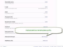 Facebook umožňuje stáhnout publikovaná data