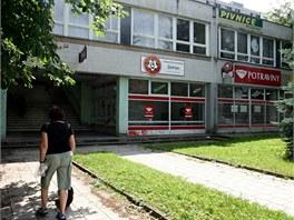 Budova ve Zlíně-Podhoří, který chce Synot opravit a mimo jiné v něm otevřít i