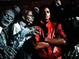 Michael Jackson ve videoklipu k písni Thriller