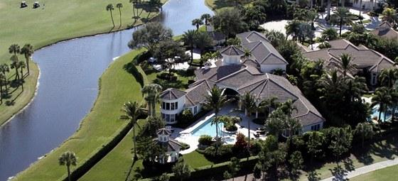 Sídlo sester Williamsových v městě Palm Beach Gardens na Floridě