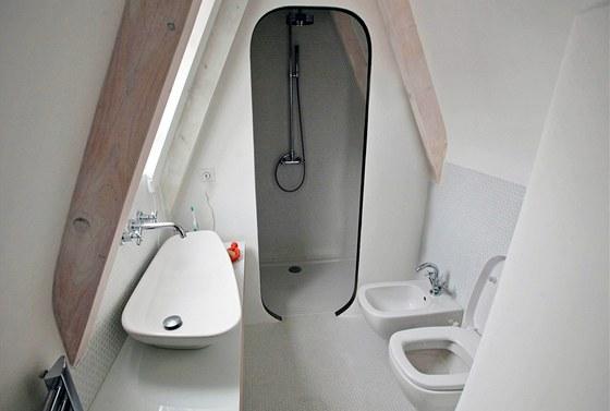 Sprcha v samostatné místnosti – i tak lze vyřešit koupelnový prostor v podkroví.