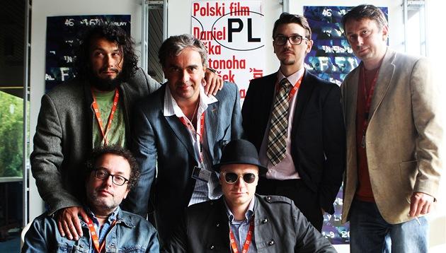 MFFKV 2011 - Jan Budař (dole vpravo) coby režisér snímku Polski film představil