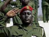 Vojáci Jižního Súdánu nacvičují na vyhlášení nezávislosti  (6. července 2011)
