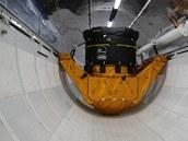 Vnitřek makety raketoplánu - skladiště
