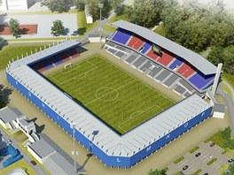 Studie budouc� podoby stadionu ve �truncov�ch sadech bez dvou v��