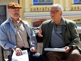 Režisér Milan Šteindler natáčí v Poličce televizní detektivku. Hrají v ní