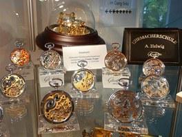 Expozice hodinářského muzea v Glashütte