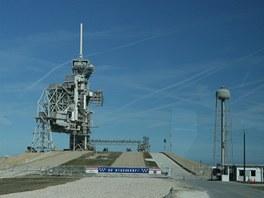 Startovací komplex LC-39A před poslední misí raketoplánu Discovery
