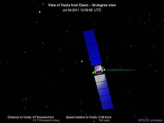 Vesta - 4.7.2011, už jen 67 000 km do cíle