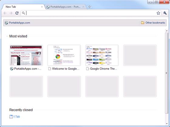 Přenosné edice internetových prohlížečů zvládnou stejné funkce jako jejich