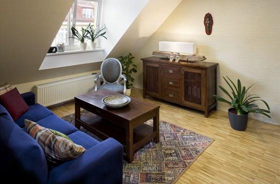 Obytný pokoj ve vikýři