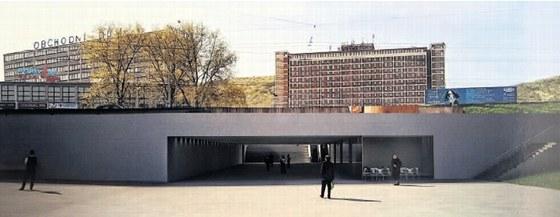 Vítězný návrh podchodu pod třídou Tomáše Bati v centru Zlína od Pavla Chládka a
