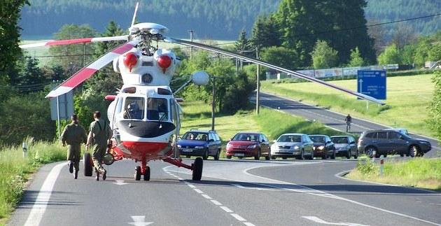 Nehoda, vrtulník (ilustrační snímek)