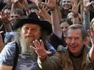 Trutnov 2008 - Václav Havel a přátelé při překonání rekordu v pořízení největší