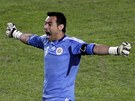 POSTUPUJEME! Justo Villar se raduje z postupu Paraguaye do semifinále