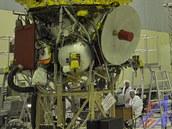 Satelit RadioAstron při zkouškách u výrobce (Lavočkinových závodů). Takto