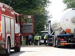 Na mezinárodní silnici I/38 z Jihlavy do Znojma se srazila dodávka bezpečnostní