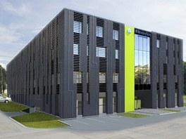 Vizualizace podoby superpočítačového centra v Ostravě-Porubě.