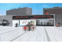 Podchod pod třídou Tomáše Bati ve Zlíně podle návrhu Evy Jiřičné a jejího