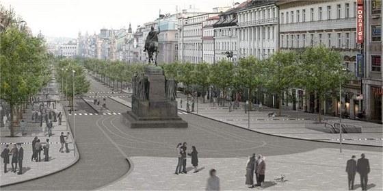 Možná nová podoba pražského Václavského náměstí.