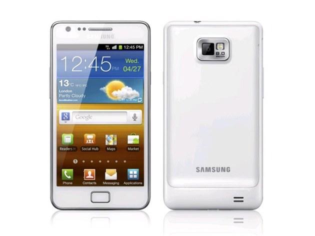 Samsung Galaxy S II v bílém provedení