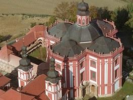 Poutní kostel Zvěstování Panny Marie v Mariánské Týnici.