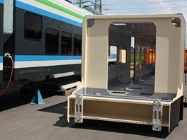 První vyrobená skříň pro LEO Express - hlavové vozidlo. Na tomto místě vznikne