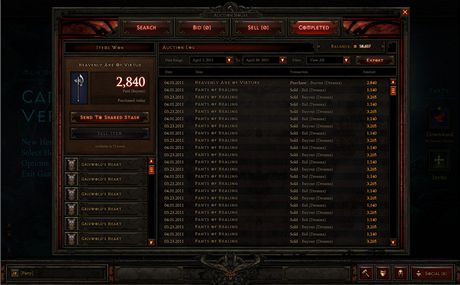Diablo 3 - aukce
