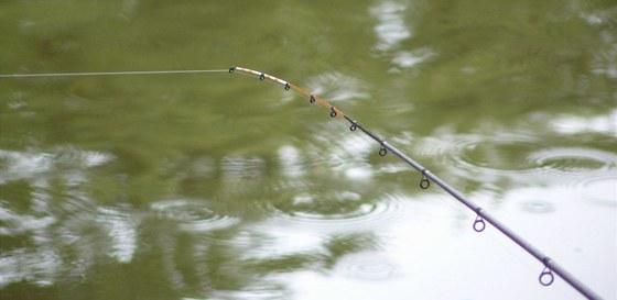 Lov pomocí feedrového prutu