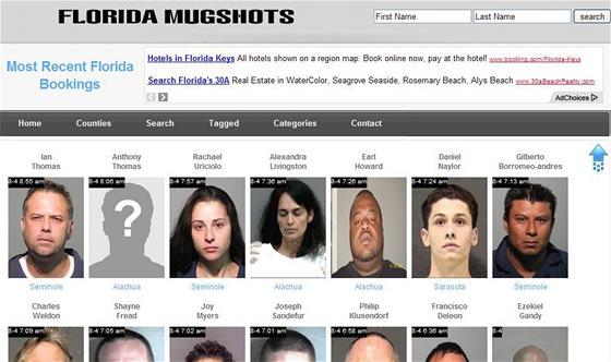Snímky zatčených jsou volně přístupné na internetu