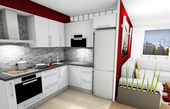 Kuchyně nabízí poměrně dostatek úložného prostoru.
