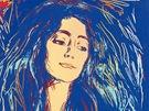 Andy Warhol - Eva Mudocci (podle Muncha) (1984)