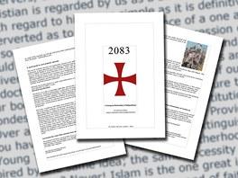 Stránky z manifestu norského fanatika Anderse Behringa Breivika