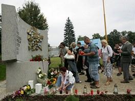 Odhalen� pomn�ku na pam�tku zem�el�ch p�i vlakov�m ne�t�st� z roku 2008 ve
