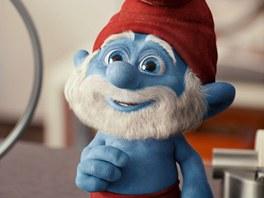 Z filmu Šmoulové 3D: Taťka Šmoula neboli modrý Santa