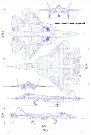 Suchoj T-50 neviditelná stíhačka, která měla přiletět ale nepřiletěla.