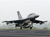 Letoun F-16 tchajwansk�ho letectva na archivn�m sn�mku