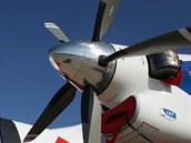 L-410 s dokonale výstavně s vrtulemi Avia V508 a motory Walter M 601
