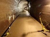 Měřící zařízení v inspekčních štolách monitorují stav přehrady