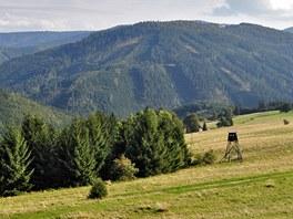 Výhled od chaty Kamenitý k jihu